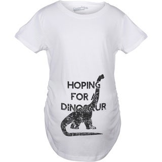 Maternity Hoping For a Dinosaur Funny Baby Pregnancy Announcement T-shirt