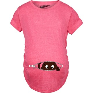 Maternity African American Baby Peeking Pregnancy Annoucement T-shirt