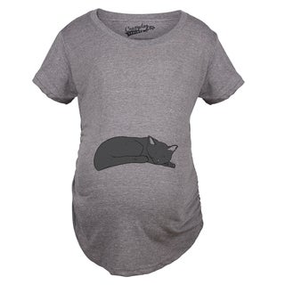 Maternity Sleeping Cat Bump T-shirt