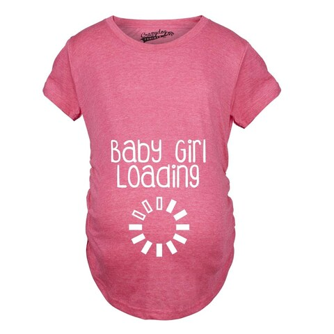 Maternity Baby Girl Loading T-shirt
