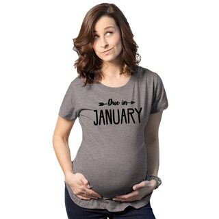 Maternity Due In January T-shirt
