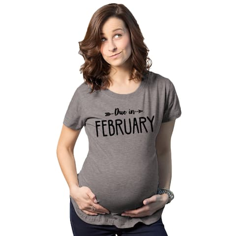 Maternity Due In February T-shirt