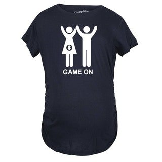 Maternity Game On Couple Tee Expecting Baby Bump Pregnancy Announcement T-shirt