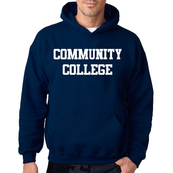95fa8953b Shop Community College Sweatshirt Funny Ironic Plain Text Parody Hoodie -  Free Shipping On Orders Over $45 - Overstock - 18946509