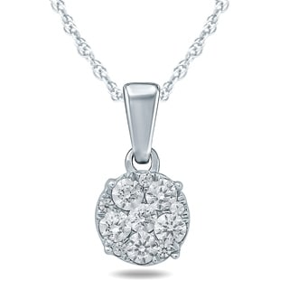 1 8 Carat TW Diamond Pendant In 10K White Gold