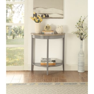 Link to ACME Joey Console Table in Gray Oak and Gray Similar Items in Living Room Furniture