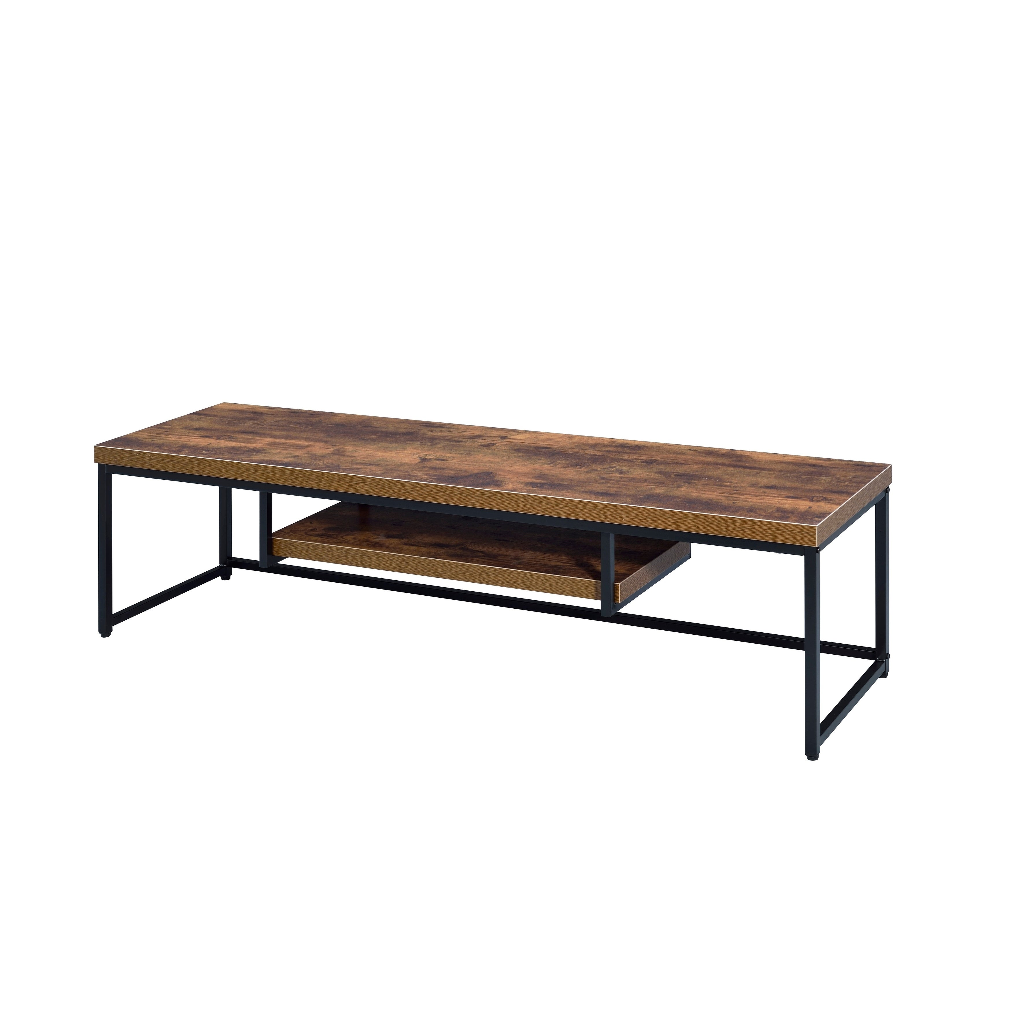 Acme Beth Tv Stand In Weathered Oak And Black