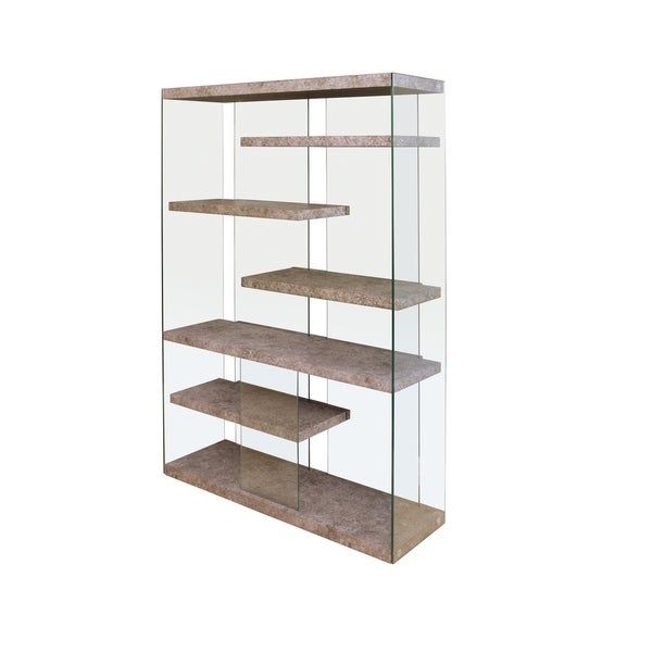 Acme Boyd Bookcase In Clear Gl