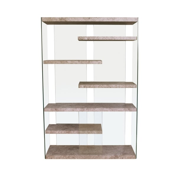 Acme Boyd Bookcase In Clear Gl Free Shipping Today 25000036