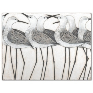Norman Wyatt Home Shorebird Social 30-inch x 40-inch Gallery Wrapped Canvas