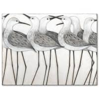 Shorebird Social 30 x 40 Gallery Wrapped Canvas by Norman Wyatt Home