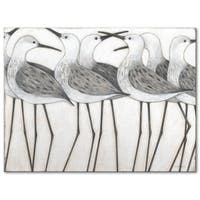 Norman Wyatt Home Shorebird Social 30 x 40 Gallery Wrapped Canvas by Norman Wyatt Home