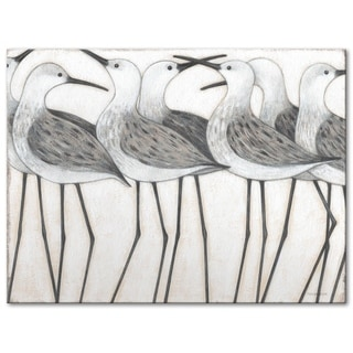 Link to Shorebird Social Gallery Wrapped Canvas by Norman Wyatt Home Similar Items in Canvas Art