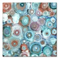 Liquid Geodes 30 x 30 Gallery Wrapped Canvas by Norman Wyatt Home