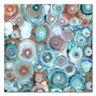 Norman Wyatt Home Liquid Geodes 40 x 40 Gallery Wrapped Canvas by Norman Wyatt Home