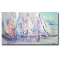 Marlene Lawrence 'Sunday Race' Gallery-wrapped Canvas Giclee Art