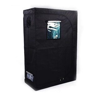 48*24*72inch / 122*61*183cm Grow Tent with Window Black