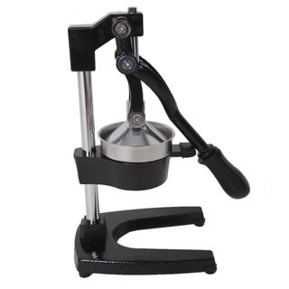 Portable Manual Home Use Stainless Steel Cast Iron Juicer Black