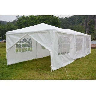 3 x 9m 8 Sides 2 Doors Home Assembled Tent Plastic Fastenings White