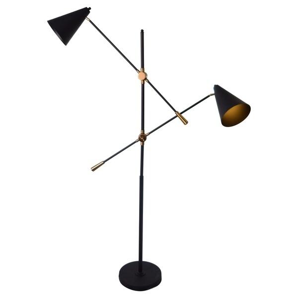 CDI Furniture Hopper Collection 2-Bulbs Floor Metal Lamp, Copper