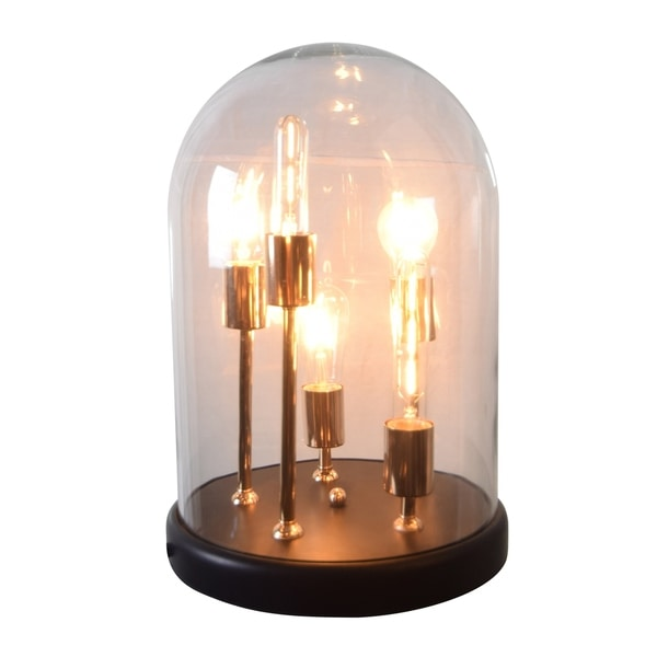CDI Furniture Capsule Collection 5-Glass Metal Table Lamp, Large