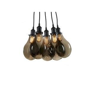 CDI Furniture Tear Drop Collection 5-Bulbs Glass Pendant Light