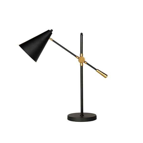 CDI Furniture Hopper Collection Copper/Black Metal 1-bulb Table Lamp