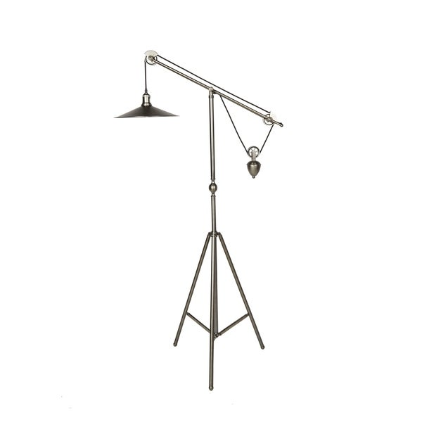 CDI Furniture Libra Collection Brass Finish Metal Single Light Floor Lamp