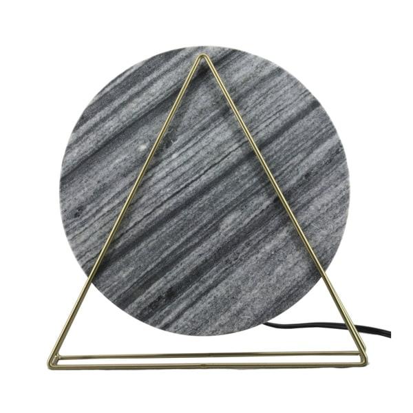 CDI Furniture Dalida Collection Iron Table Lamp, Black Marble