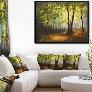 Designart 'Summer Forest' Landscape Art Print Framed Canvas