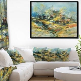 Designart 'Abstract Landscape' Abstract Framed Canvas Art Print