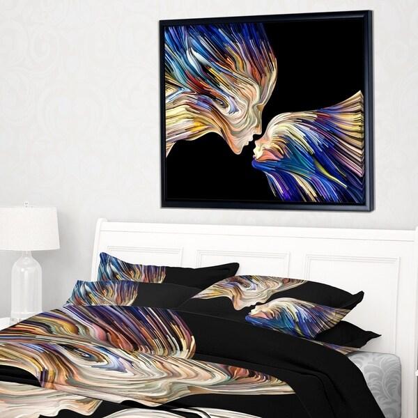 Shop Designart \'Metaphorical Mind Painting\' Sensual Framed Canvas ...
