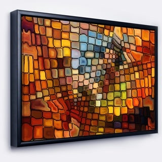 Designart 'Dreaming of Stained Glass' Abstract Framed Canvas Artwork