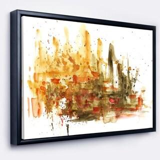 Designart 'Abstract Composition Art' Abstract Framed Canvas Art Print