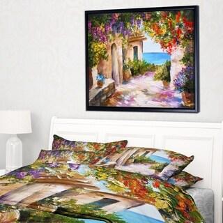Designart 'Summer Seascape' Landscape Art Print Framed Canvas
