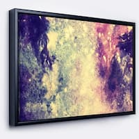 Designart 'Deep Blue and Purple' Abstract Framed Canvas Print