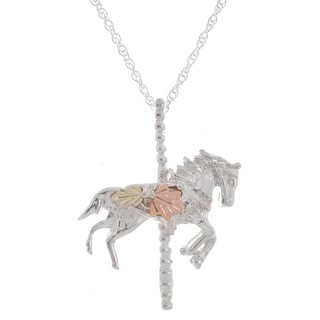 Black Hills Gold and Sterling Silver Carousel Horse Pendant