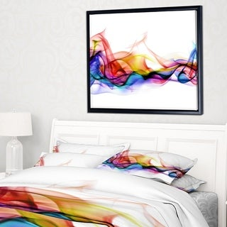 Designart 'Abstract Smoke' Contemporary Framed Canvas Artwork