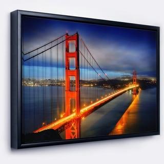 Designart 'Golden Gate Bridge' Landscape Photography Framed Canvas Print