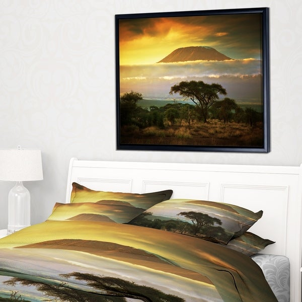 Designart 'Mount Kilimanjaro' Photography Landscape Framed Canvas Print