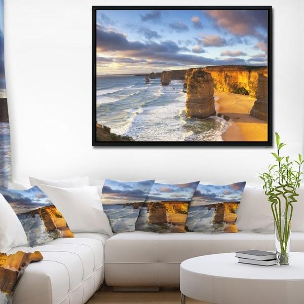 Designart \'Twelve Apostles Australia\' Seascape Framed Canvas Art ...