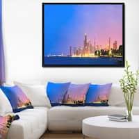 Designart 'City of Chicago Skyline' Cityscape Photo Framed Canvas Print