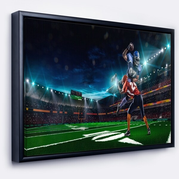 FOOTBALL KICK OFF SPORT BOX MOUNTED CANVAS PRINT WALL ART PICTURE PHOTO