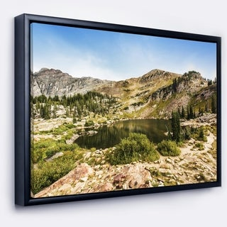 Designart 'Secret Lake at Albion Basin' Landscape Photography Framed Canvas Print