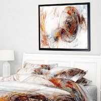 Designart 'Colored Smoke Brown' Abstract Framed Canvas art print
