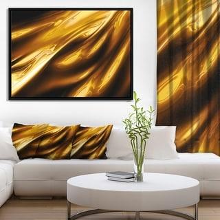 Designart 'Liquid Gold Texture Pattern' Abstract Framed Canvas art print