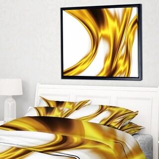 Designart 'Bright Gold Texture Pattern' Abstract Framed Canvas art print