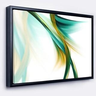 Designart 'Blue Gold Texture Pattern' Abstract Framed Canvas art print