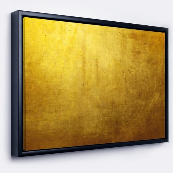 264697716460 Shop Designart  Gold Texture  Abstract Framed Canvas art print - On ...