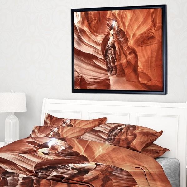 Designart 'Antelope Canyon High Structures' Landscape Photography Framed Canvas Print